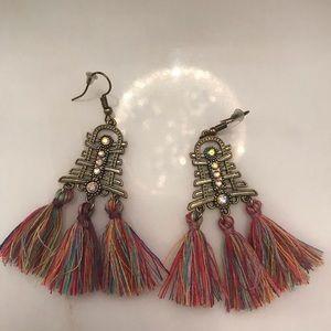 BNWT Statement Tassel Earrings